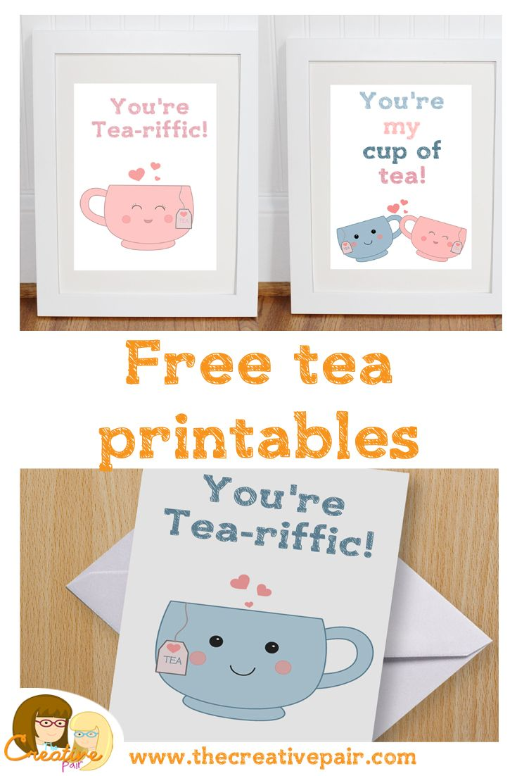 Who loves tea? I do! I do! I'm a tad obsessed with tea and I've made some  free printables for you all to enjoy...