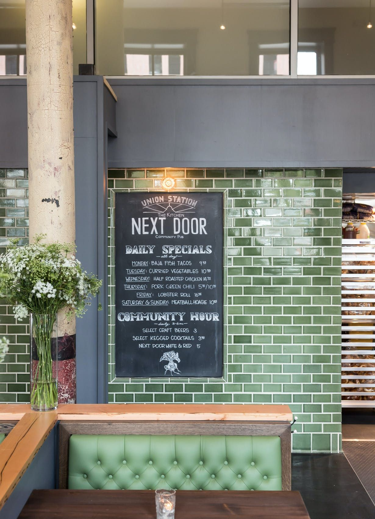 The Kitchen Next Door Union Station Semple Brown Architects Designers Archinect Restaurant Station Coffee Shop Design Restaurant Tiles
