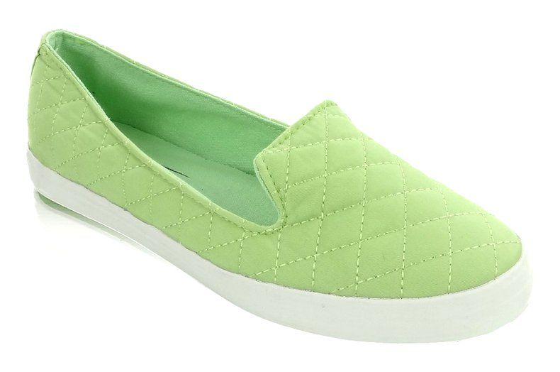 Slip On Pikowane 9907 Rl 925 Seledynowe Wielokolorowe Slip On Sneakers Slip On Sneaker