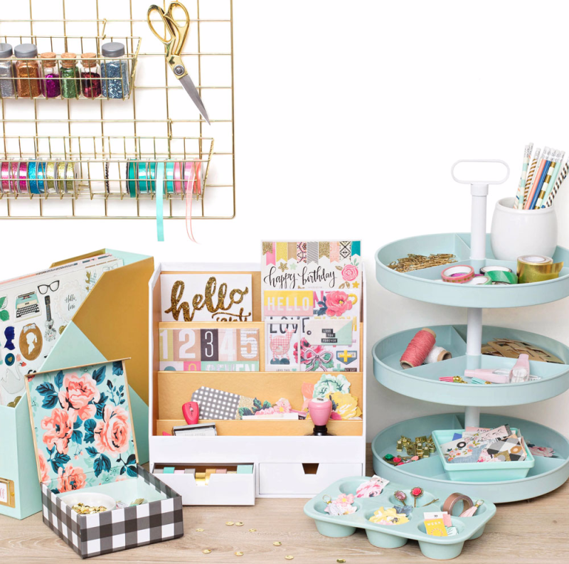 Organize craft and office spaces with this new collection of storage options.
