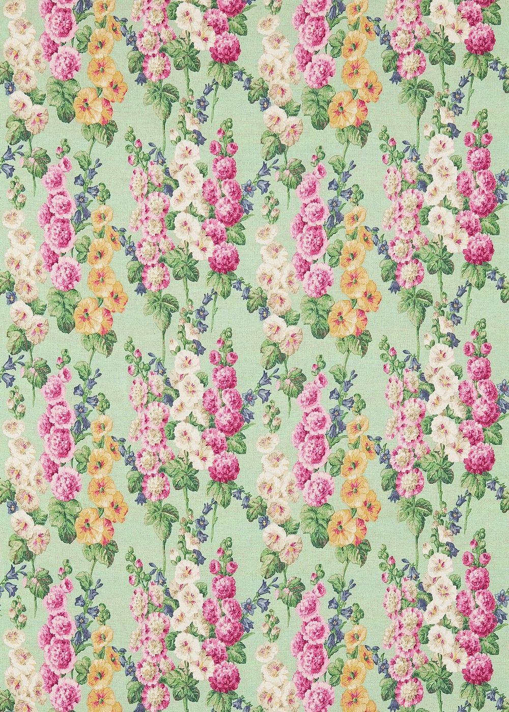 Hollyhocks Fabric 224309