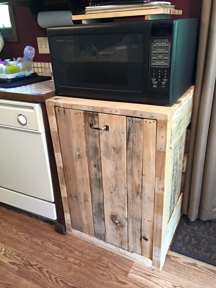 trash can holder double s s kitchen creations garbage can storage trash can cabinet hide. Black Bedroom Furniture Sets. Home Design Ideas