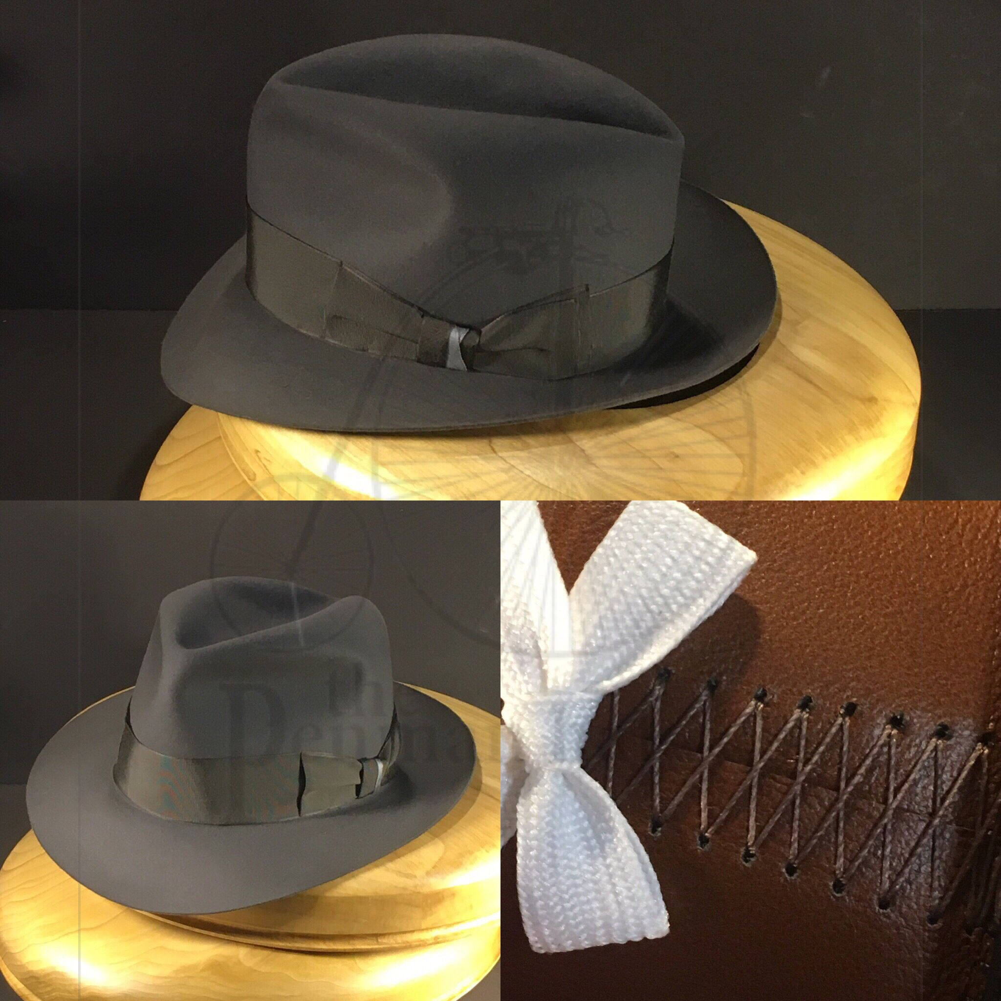 84c06d27517a2 Just finishing up on this bespoke fedora. Mid grey Portuguese Beaver felt  with vintage grosgrain ribbon. Felt is made exclusively for  penmanhats    ...