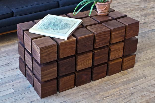 Floating Cube Coffee Table Constructed Out Of Magnetized Wood Video