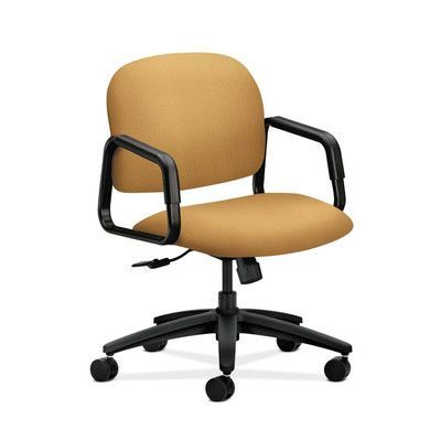 office chair upholstery. hon solution - 4000 series desk chair upholstery: mustard, upholstery material: tectonic fabric office
