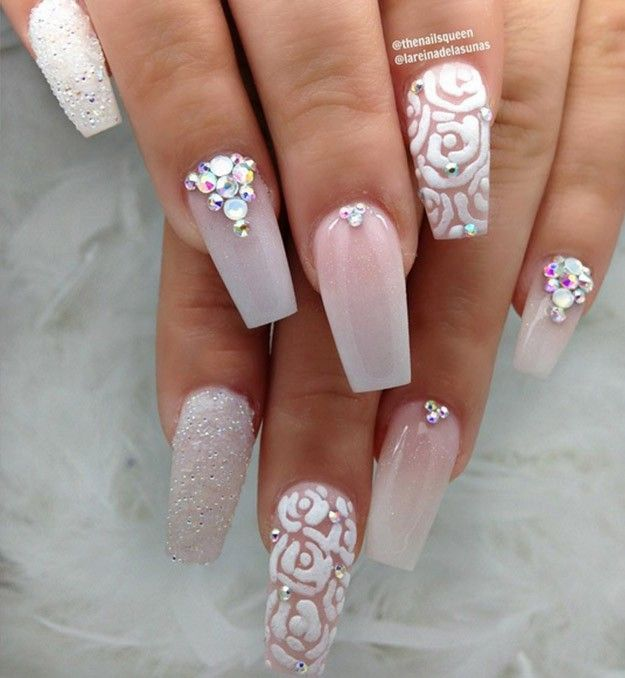White Bling Gorgeous Glittery Nail Gems You Must Try
