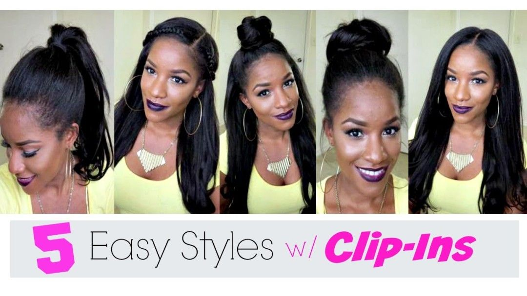 5 Simple Ways to Style Clip-in Extensions [Video] - http://community.blackhairinformation.com/video-gallery/weaves-and-wigs-videos/5-simple-ways-style-clip-extensions-video/