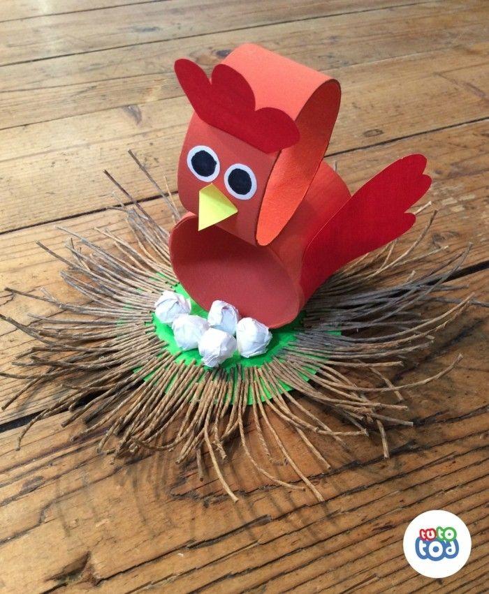 Herbstbasteln Mit Kindern Herbstdeko Selber Machen Basteln Klopapierrollen Huhn