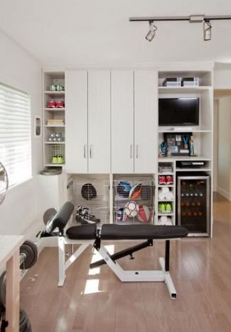 new home gym office combo small spaces ideas home  gym