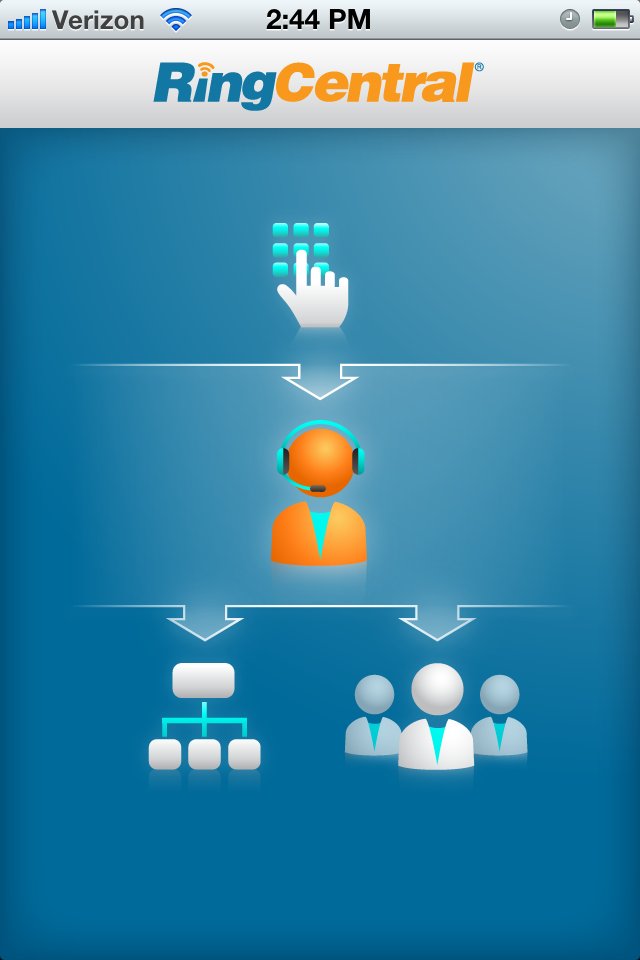 RingCentral iPhone app More at http