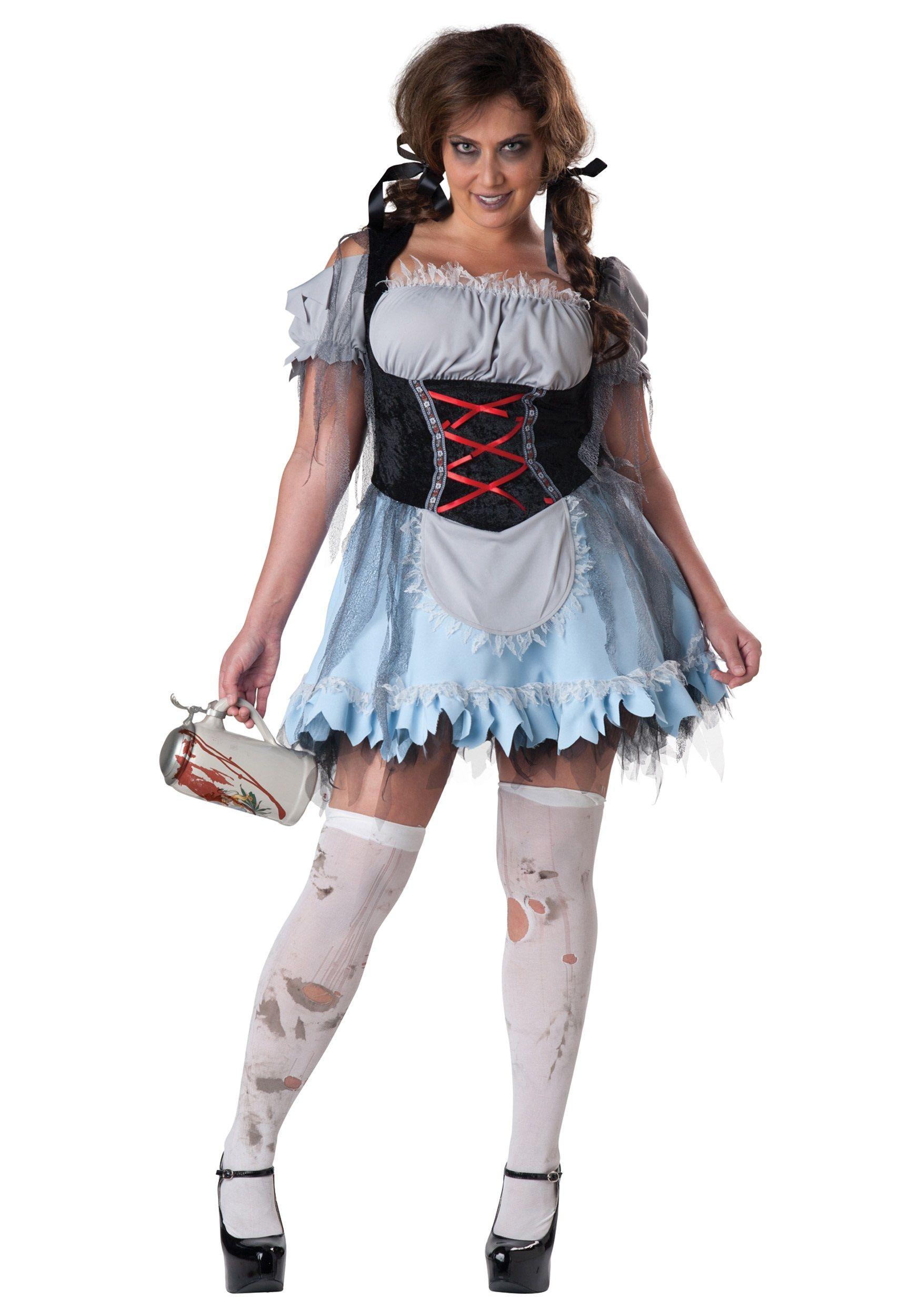 43c9fc57d7 Plus Size Zombie Beer Maiden Costume