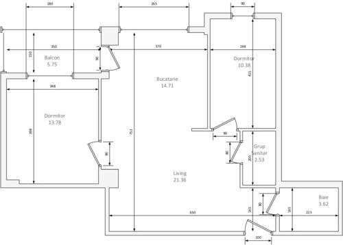 Apartament NEWTON Tip I - 3 camere - 72 mp — NEWTON
