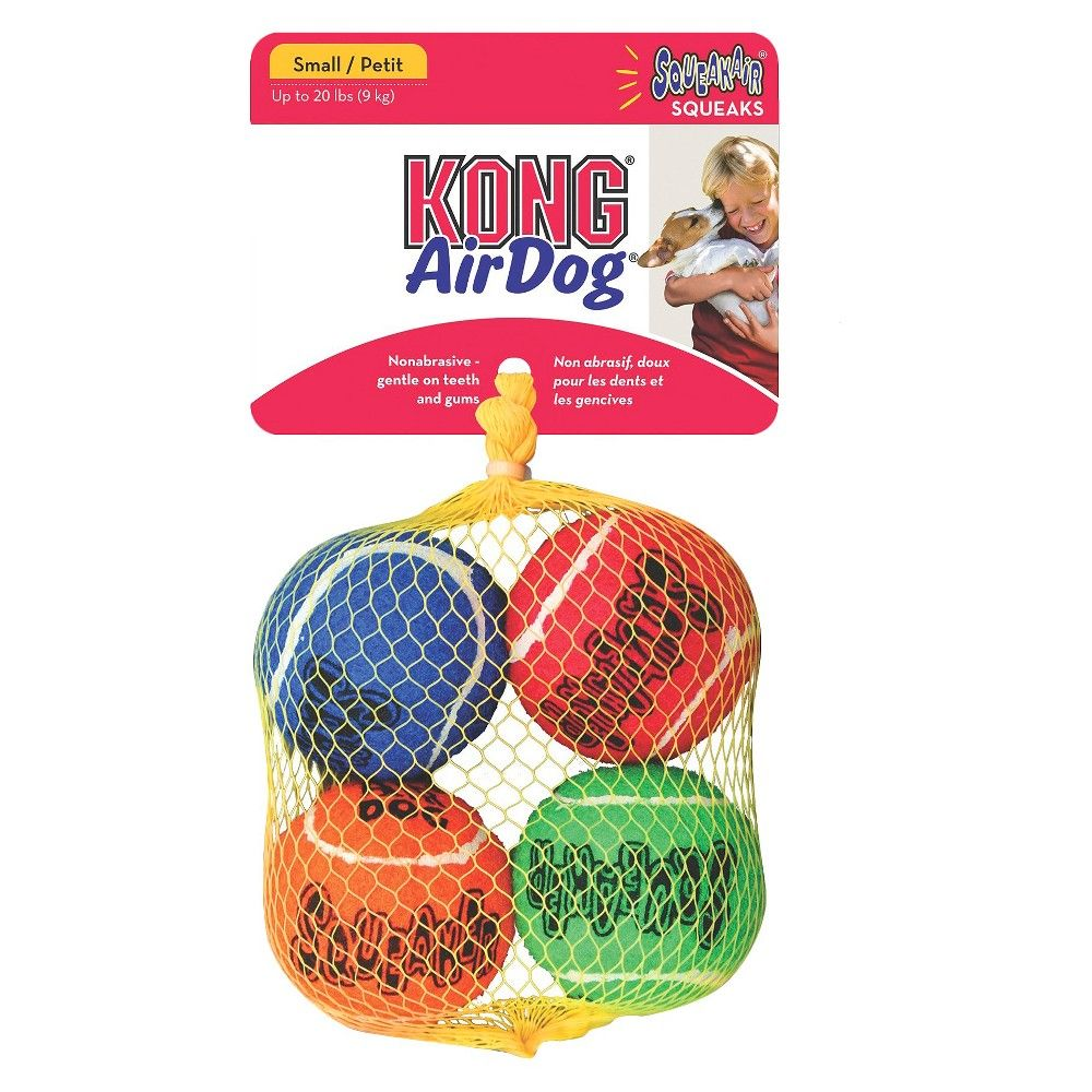 Kong Air Dog Squeaker Fetch Toy Small (4 Count) Small