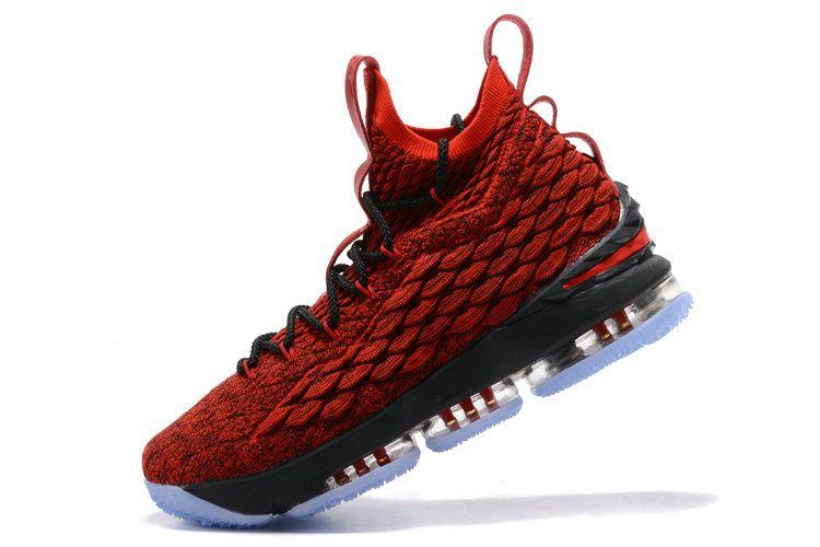 buy online b81a2 1cdbe Nike LeBron XV EP 15 Mens Original Basketball Shoes Varsity Red Black White
