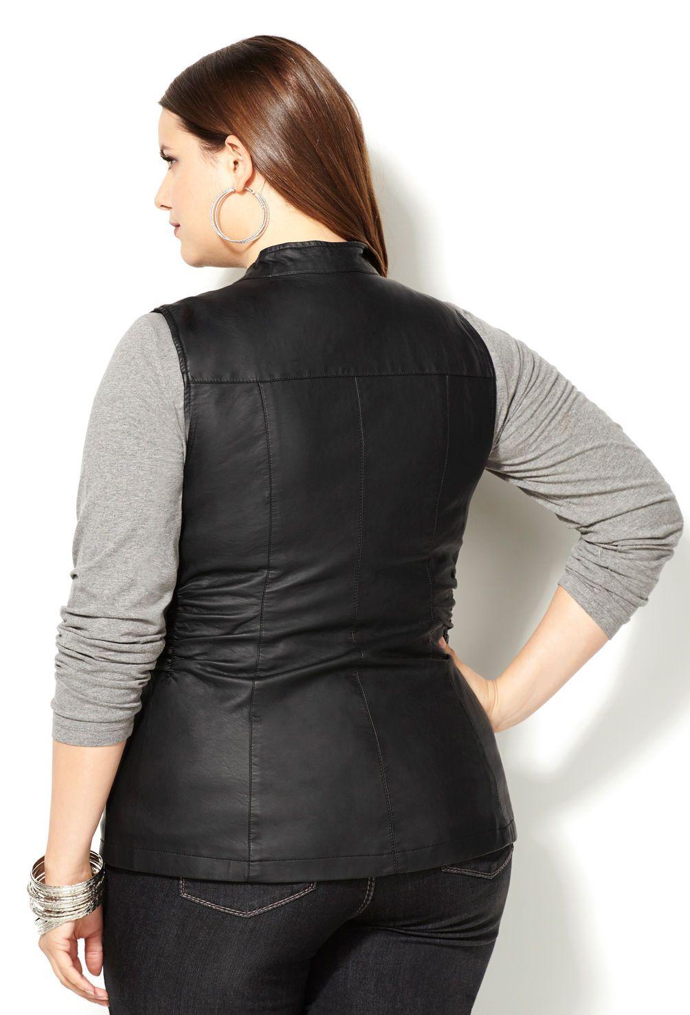 68f11d5138002 Faux Leather Vest-Plus Size Vest-Avenue