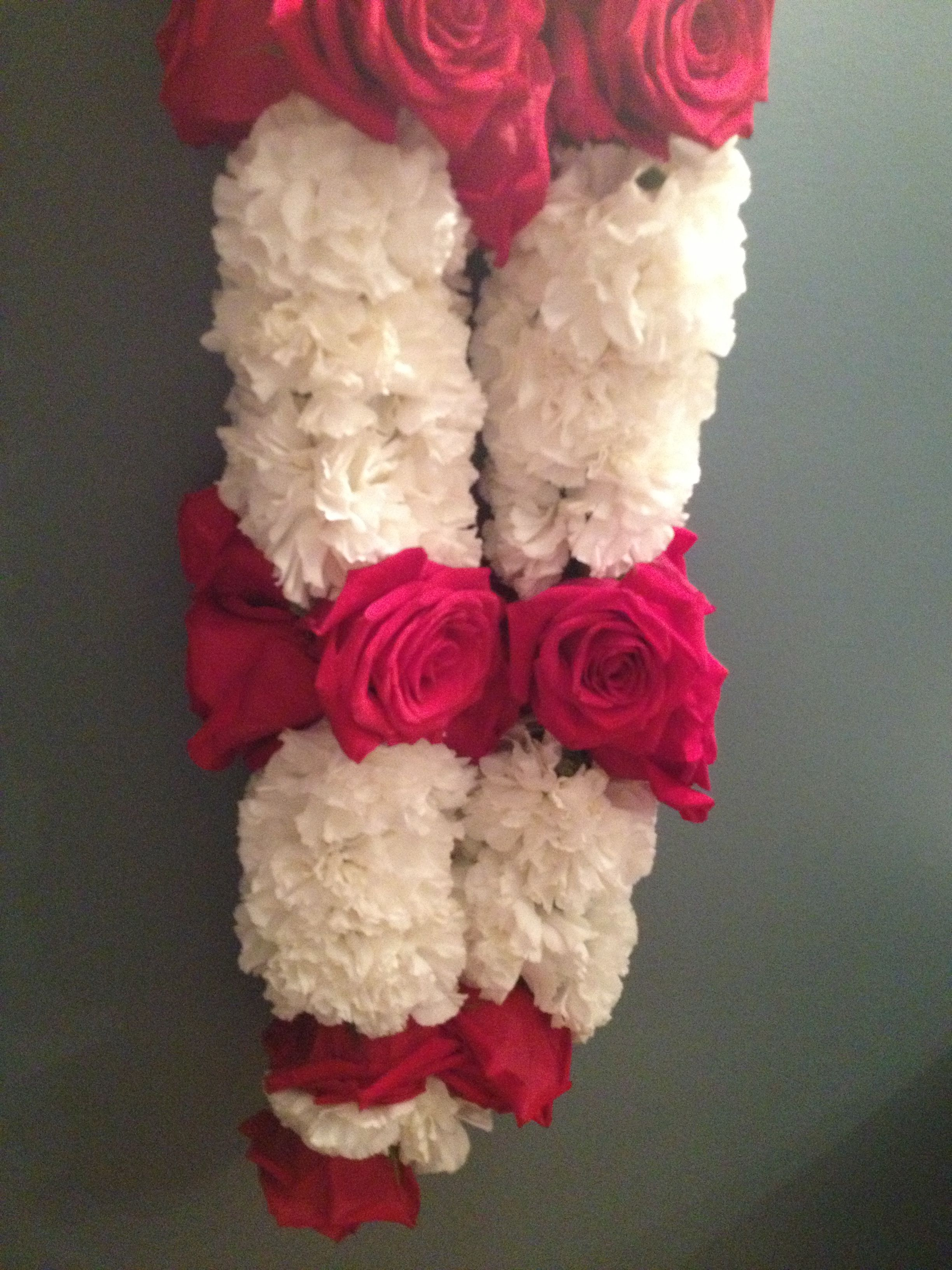 Carnation And Roses 4 Stitch Flower Garland Wedding Floral Garland Indian Wedding Garland
