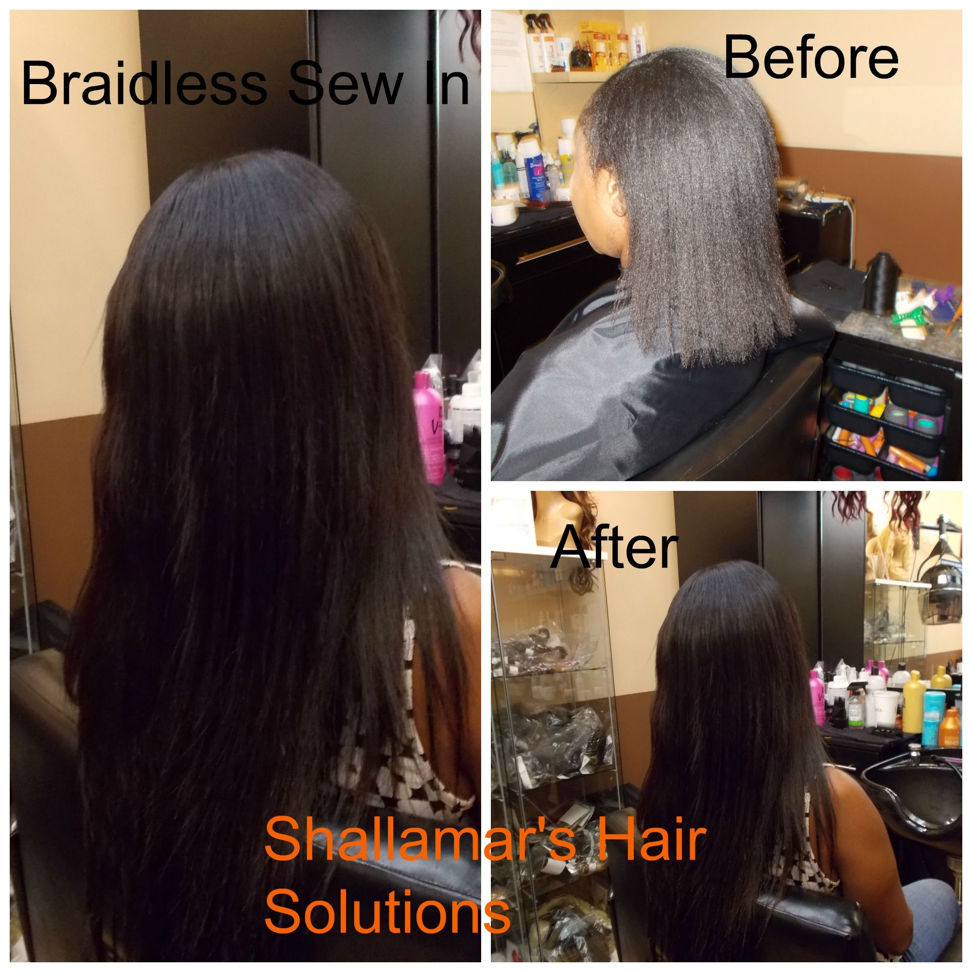 Hair Extensions Done With The Braidless Sew In Tecnhique Braidless