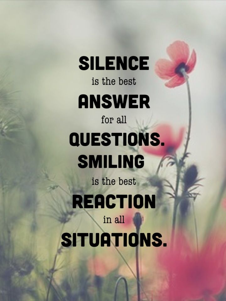 Silence Smilie Quotes Inspirational Positive Jokes Quotes Best Answer