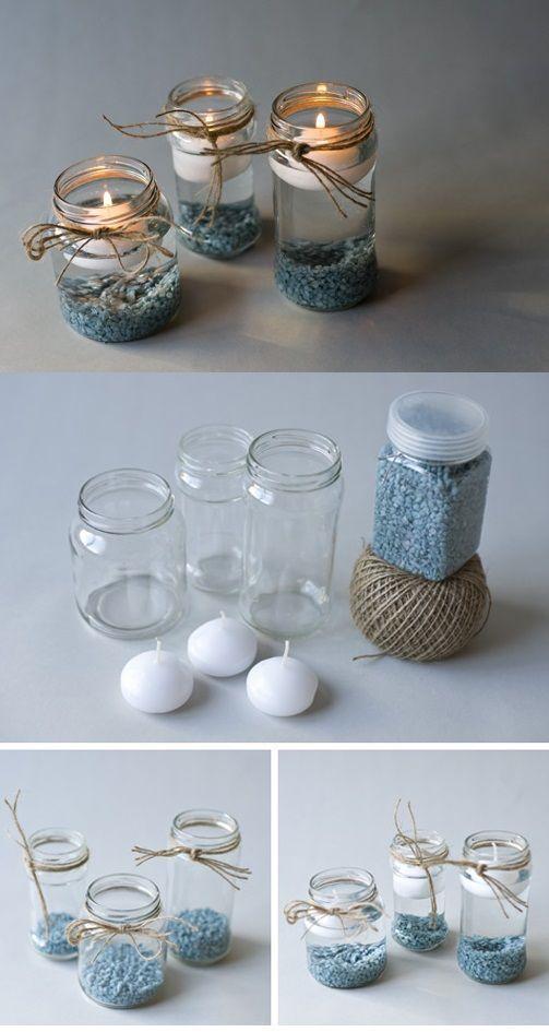 Resultado de imagen para como agujerear tapas de latas lo pinterest - Portavelas grandes ...