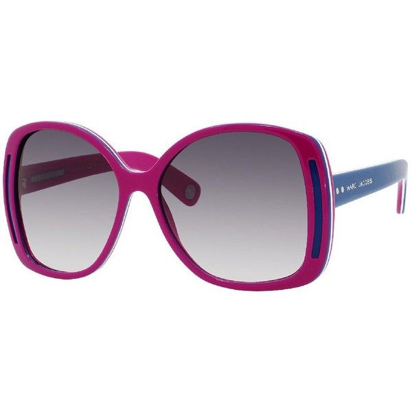 Marc Jacobs Oversized Sunglasses ($325) ❤ liked on Polyvore