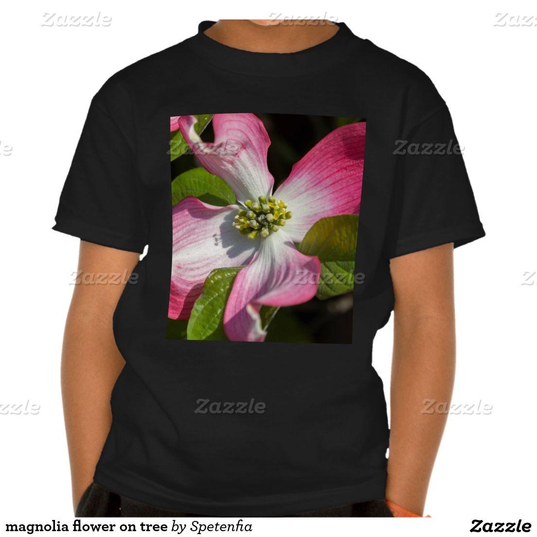 Magnolia Flower On Tree T Shirt Zazzlecouk T Shirt Shirts T