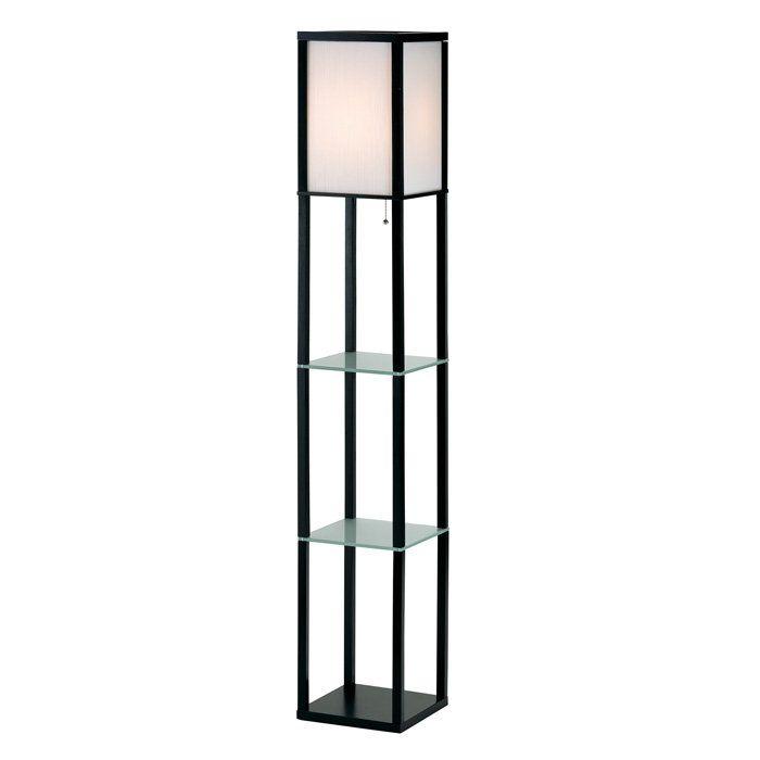 Berk Floor Lamp With Shelves Salon Interiors Entry Pinterest