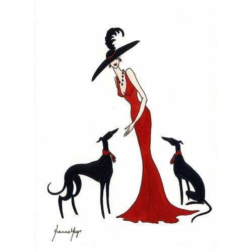 Lady in Red I by Dianne Heap @ Mini Gallery - Watercolour Painting ...