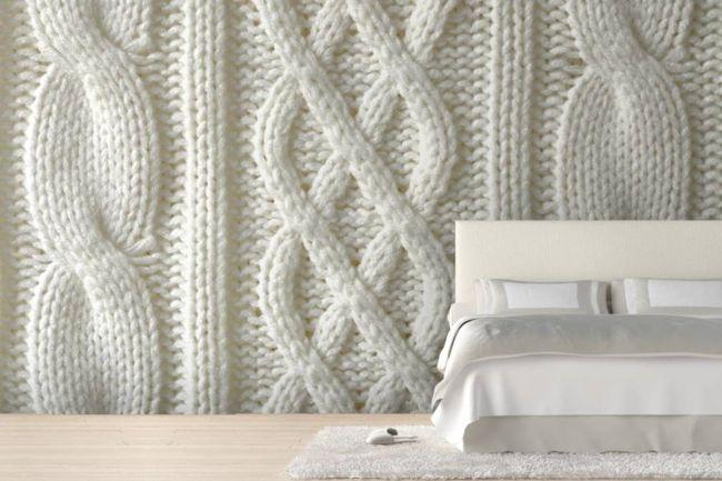 Die Strickoptikals Tappete für das Schlafzimmer-moderne-deko-wand