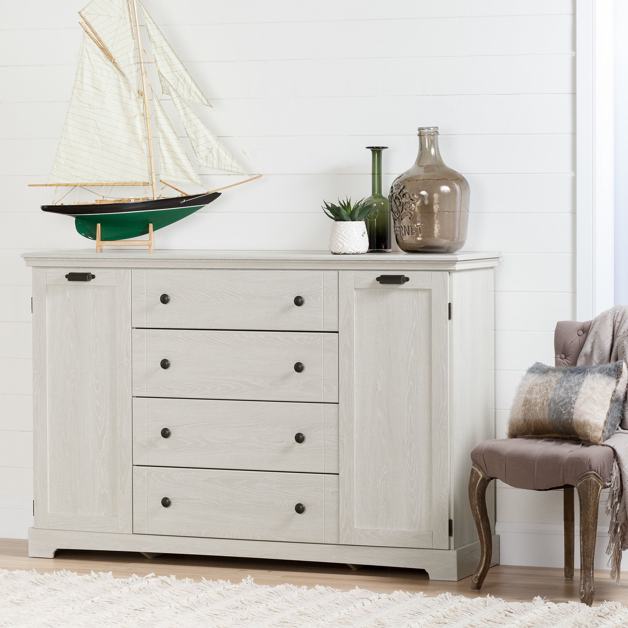 oak with drawer doors pin winter dresser avilla shore south