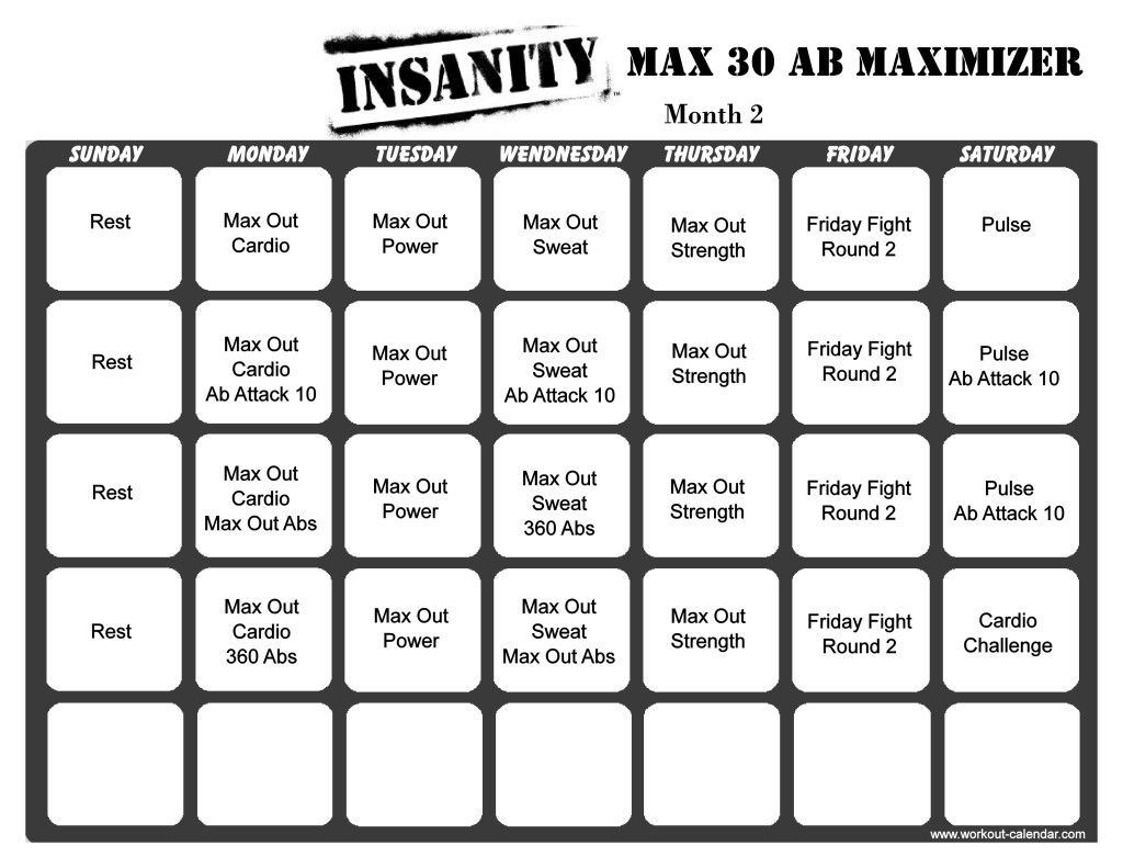 Insanity Max 30 Ab Maximizer Month 2
