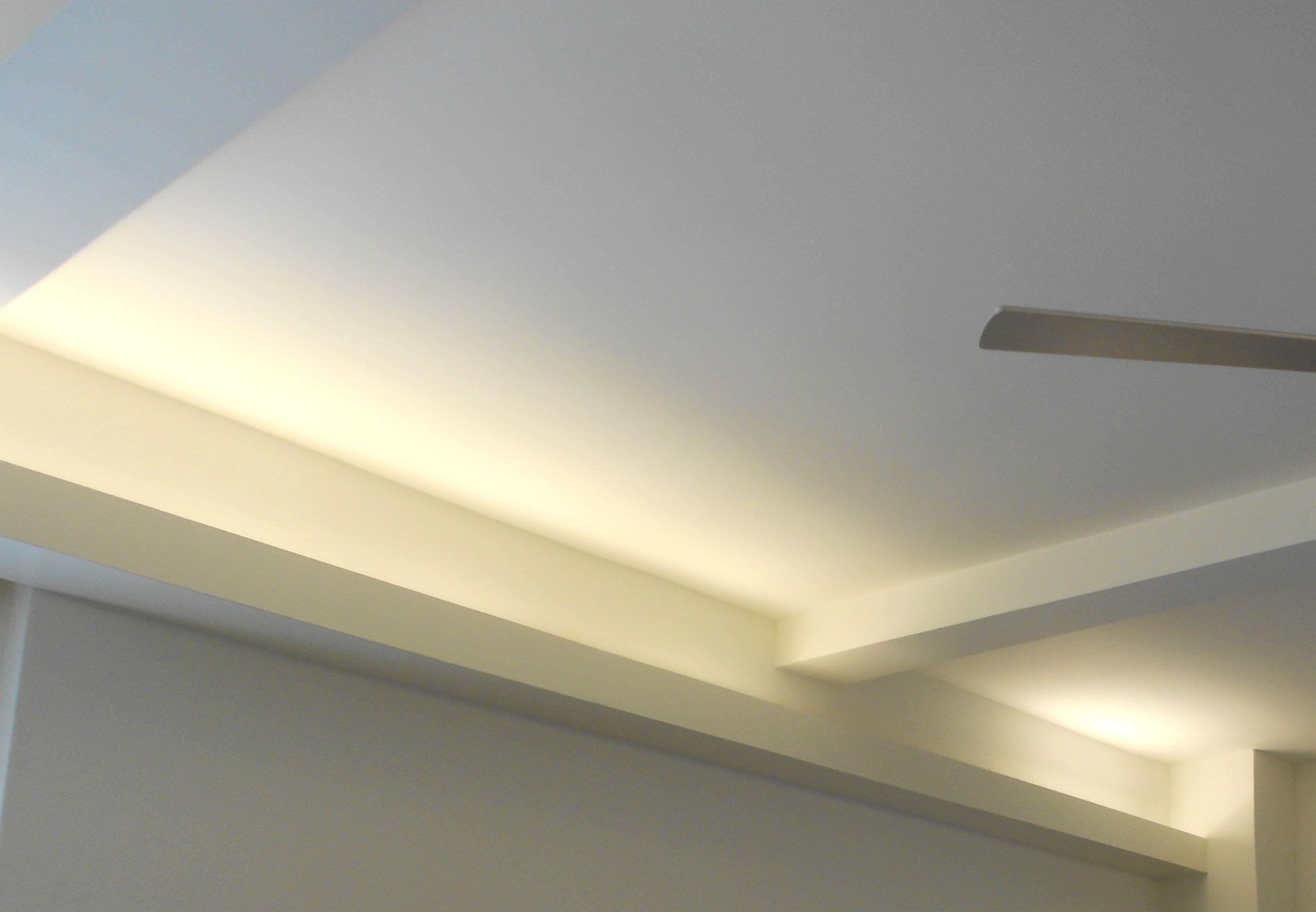 Hidden led ceiling lighting system