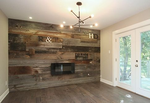 Mixed Reclaimed Barn Board Feature Wall By Barnboardstore Com
