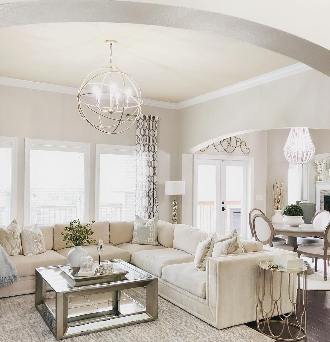 Bright Farmhouse Inspired Living Room Living Room Spaces