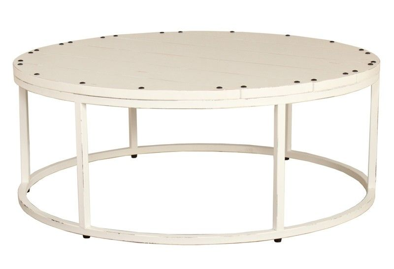 Bramble Urban Round Coffee Table In White Br 25729hrw