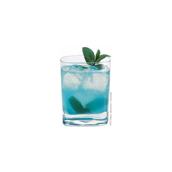 CocktailTimes.com > Original Cocktails > Blue Mojito ❤ liked on Polyvore featuring drinks, food, food and drink, alcohol, backgrounds and filler