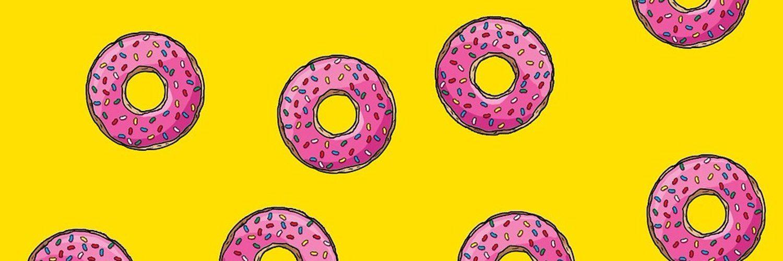 тесто обои пончики симпсоны этом