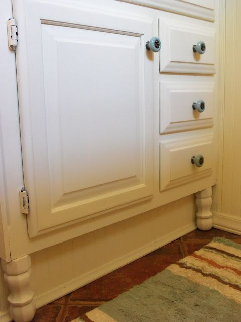 Marvelous Added Stock Legs To Raised Vanity
