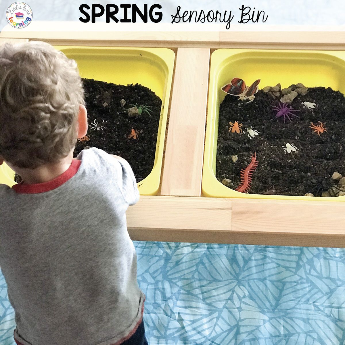 At-Home Learning: Spring Sensory Bin for Kids