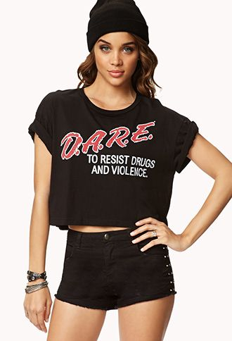 49fad3d5490d D.A.R.E® Cropped Tee   FOREVER21 - 2000075088   Things I Want To Try ...