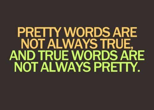 I speak a lot of non-pretty words!