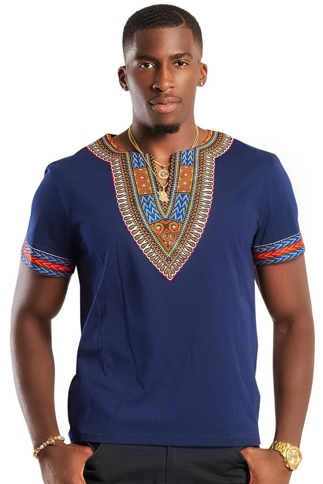 154fe6c78e6d African dashiki men shirt, African fashion, Ankara styles, African men wear  ( Navy blue)