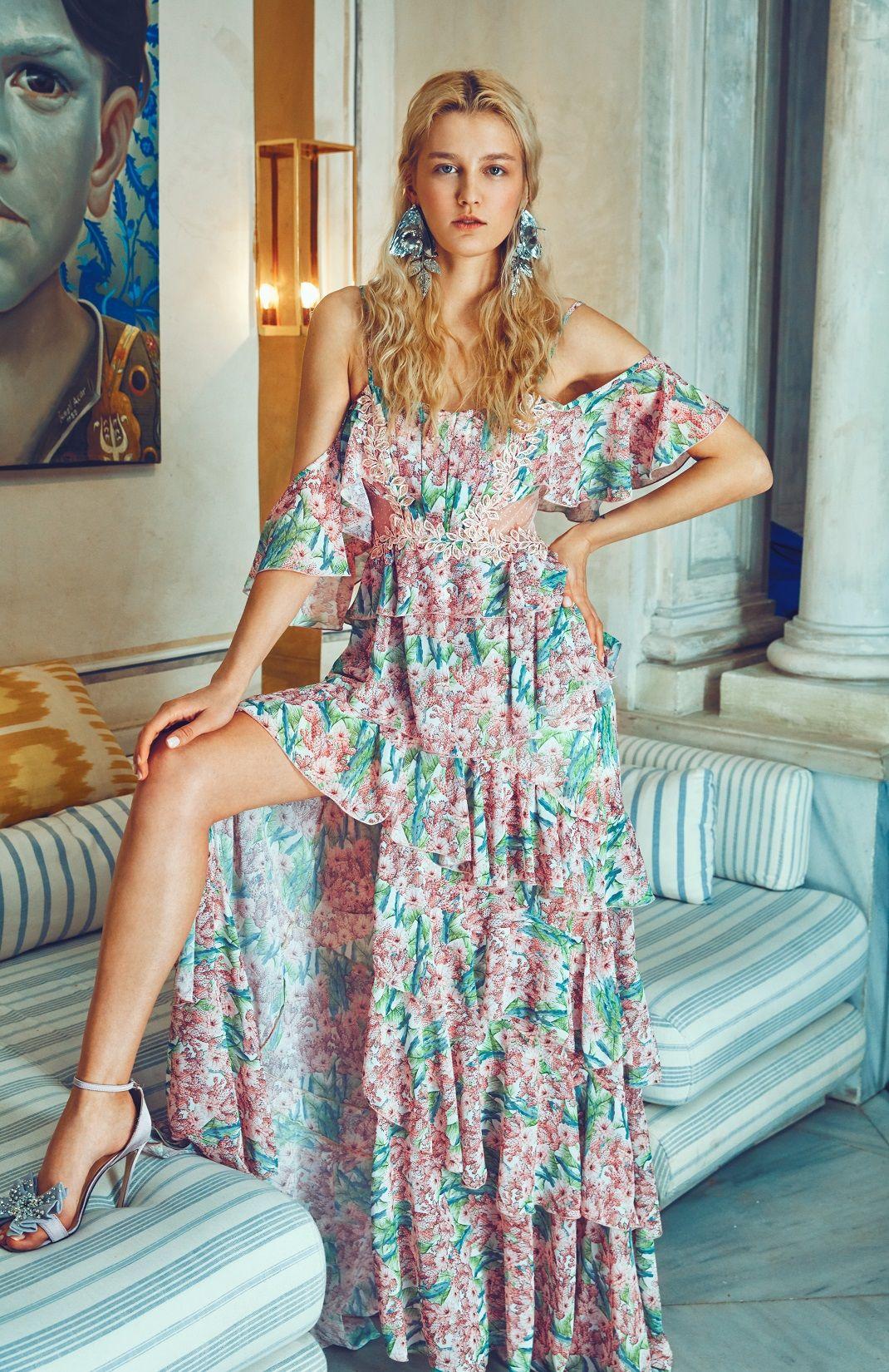 Raisa Vanessa For Trendyol 2019 2020 Moda Stilleri Elbise Maksi Elbiseler