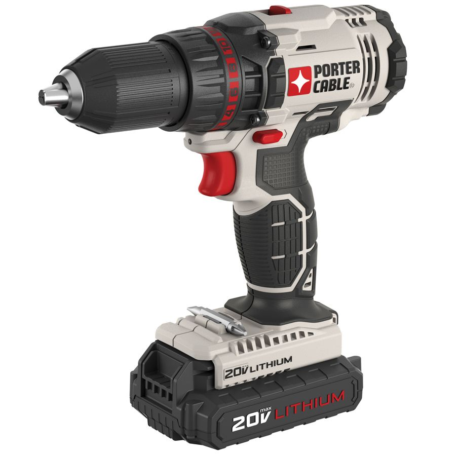 Shop Porter Cable 20 Volt Max Lithium Ion 1 2 In Cordless Drill With Soft Case At Lowes Com Porter Cable Tools Porter Cable Cordless Drill Reviews