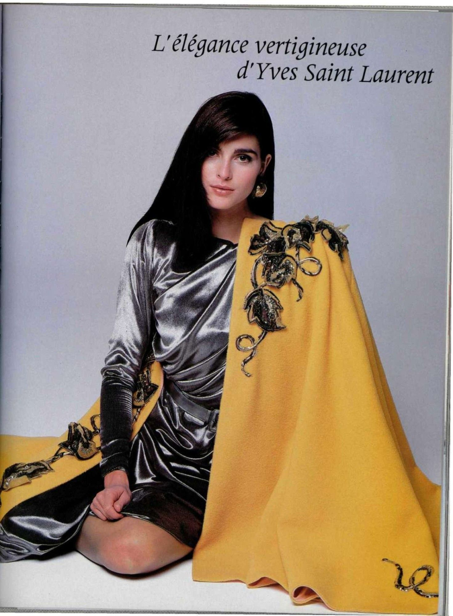 Images From L'Officiel, 1988 Model: Tasha De Vasconcelos