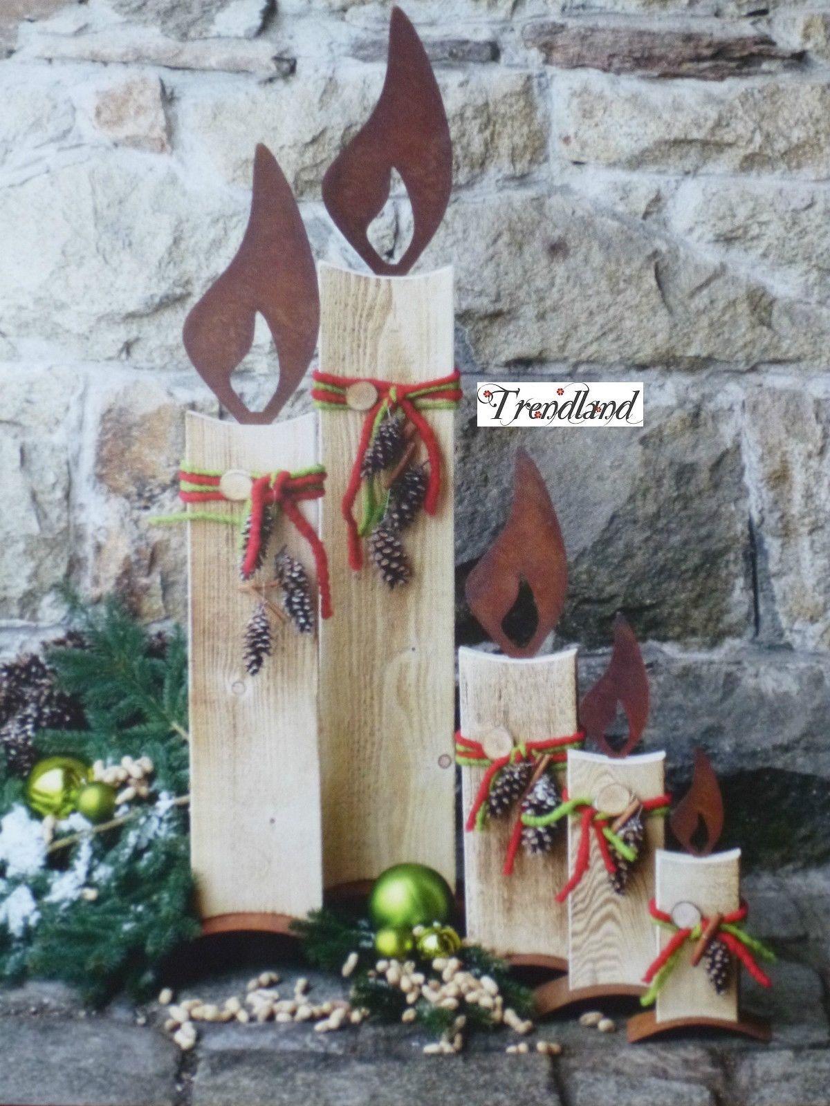 edelrost flamme f r baumstamm zur wahl kerze weihnachten. Black Bedroom Furniture Sets. Home Design Ideas