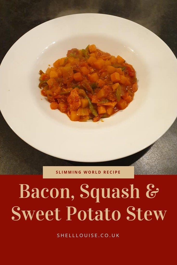 Bacon, squash and sweet potato stew Slimming World recipe -