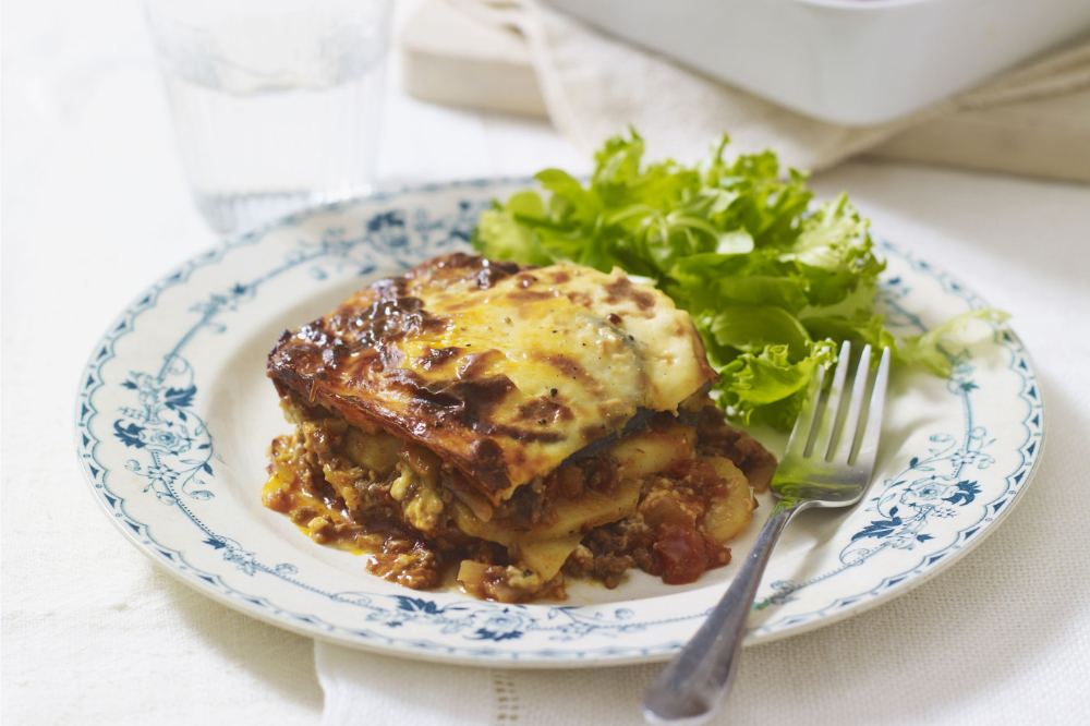 Moussaka Eggplant With Ground Beef Or Lamb And Cheese Recipe In 2020 Moussaka Beef Recipes Beef