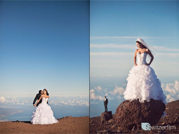 View in Hawaii = WOW! and THAT DRESS!! WOW
