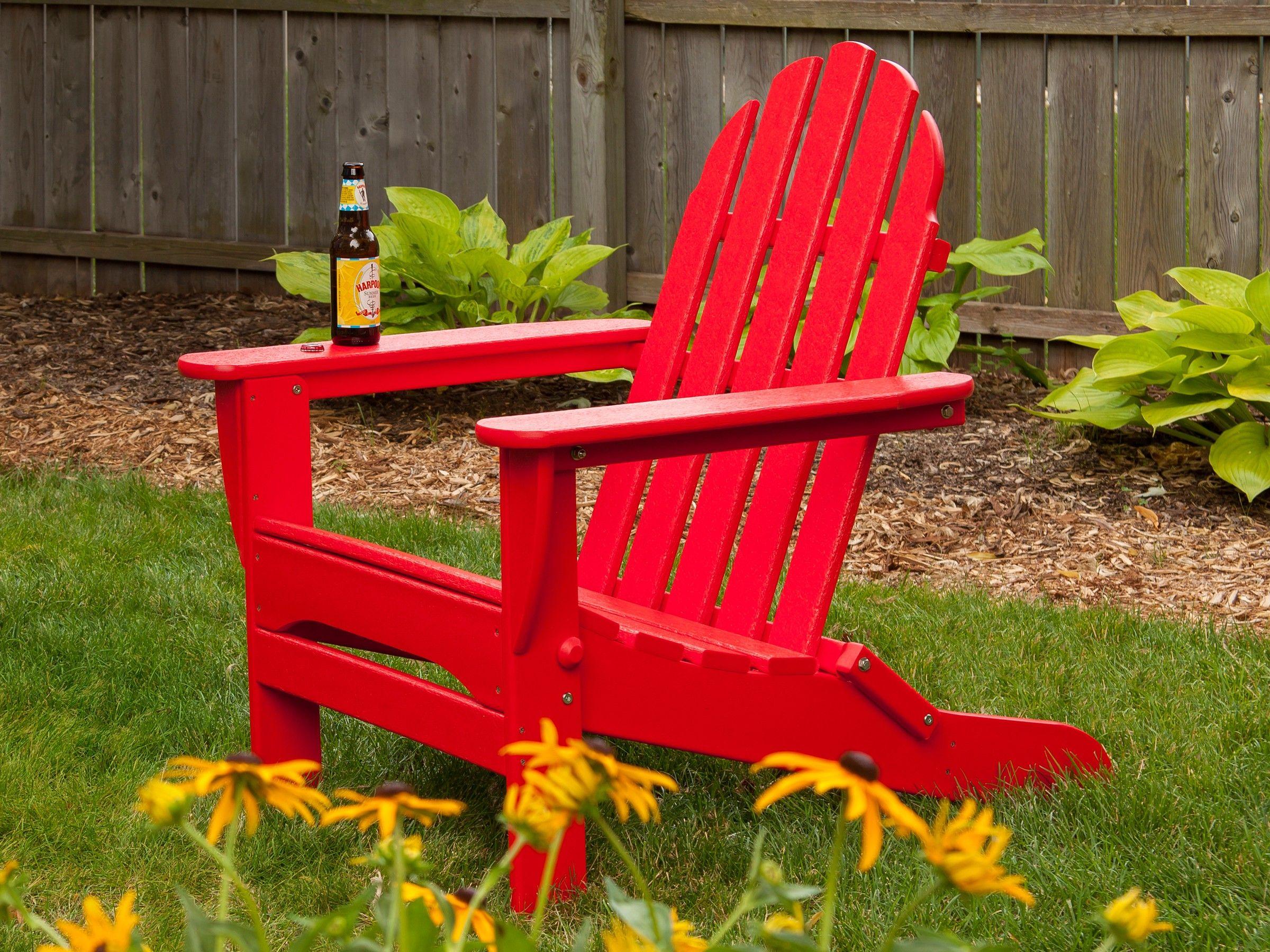 POLYWOOD Classic Folding Adirondack Chair Recycled Plastic ...