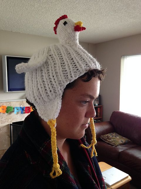 Knit Chicken Hat Pattern By J9 Tigger Oktoberfest Pinterest